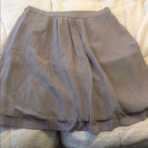 Anthropologie Skirts - Anthropologie purple button silk skirt, Sz 10
